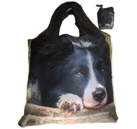 Foldaway Bag  Collie Chillout Design